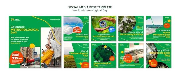 Postagem nas redes sociais para o dia meteorológico mundial