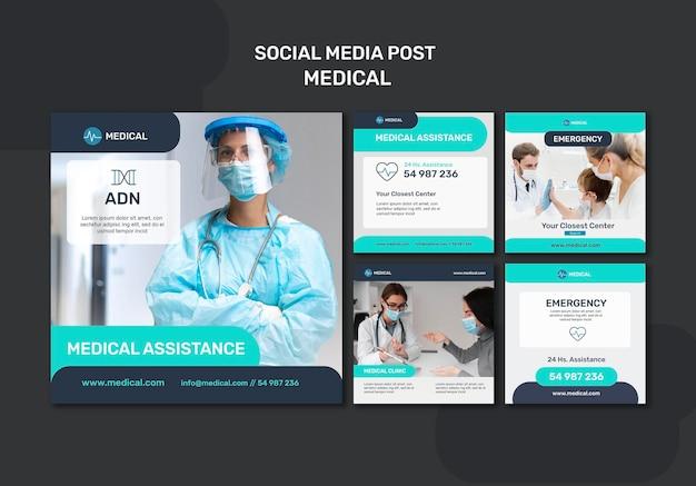 Postagem nas redes sociais sobre assistência médica