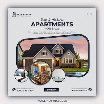 Postagem no instagram de imóveis de casas ou promoção de banner quadrado na web
