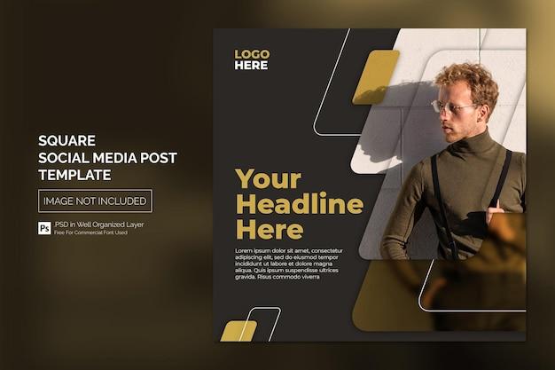 Postagem no instagram de mídia social square ou conceito de design de modelo de banner da web