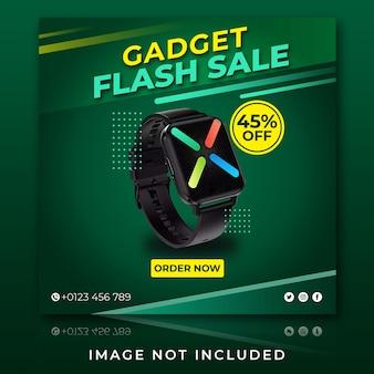 Postagem no instagram de venda de gadget de relógio inteligente