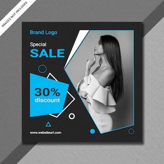Postagem no instagram ou modelo de banner de venda quadrada