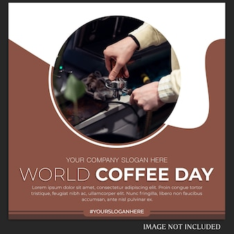 Postagem ou modelo de banner do dia mundial do café no instagram