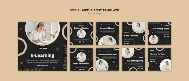 Postagens de aprendizagem online nas redes sociais