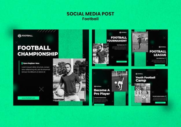 Postagens de futebol nas redes sociais