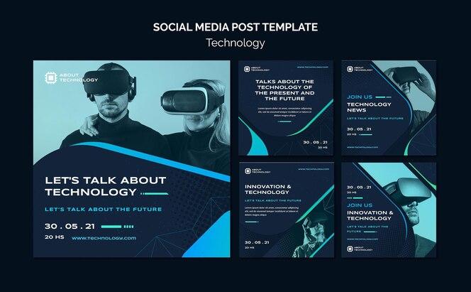 Postagens de mídia social de realidade virtual
