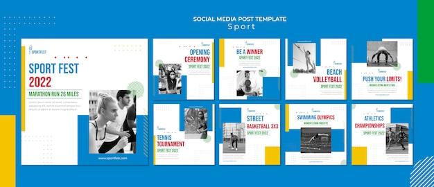 Postagens de mídia social do sport fest