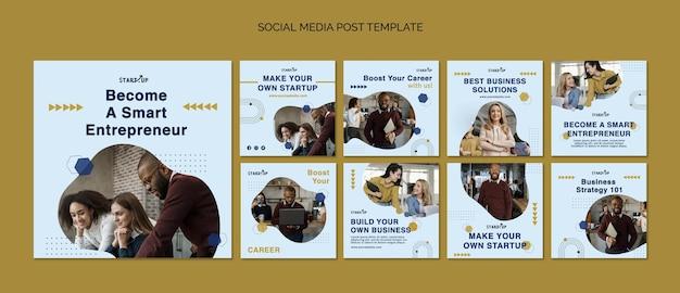 Postagens de mídia social empresarial