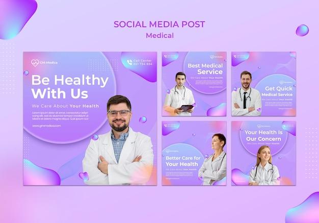 Postagens de mídia social médica