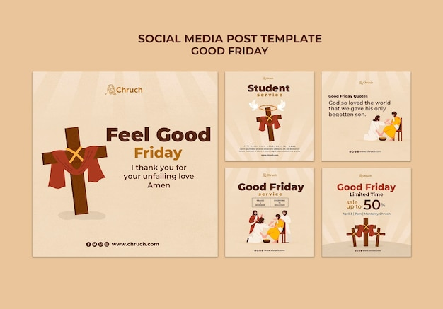 Postagens de mídia social na sexta-feira