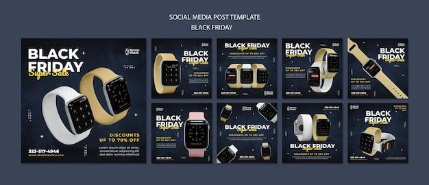 Postagens do instagram da black friday