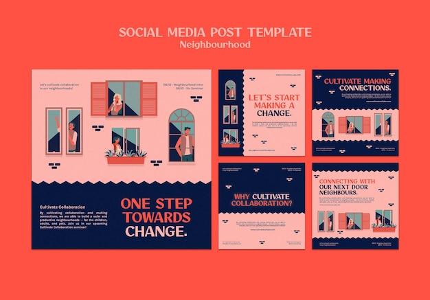 Postagens em mídias sociais de seminários de bairro