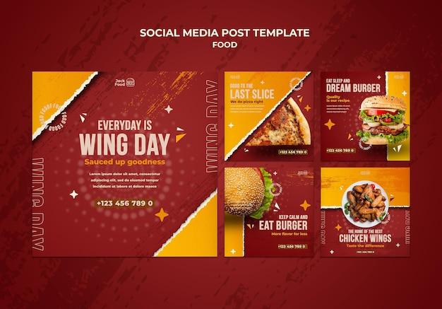 Postagens no instagram de restaurantes de fast food