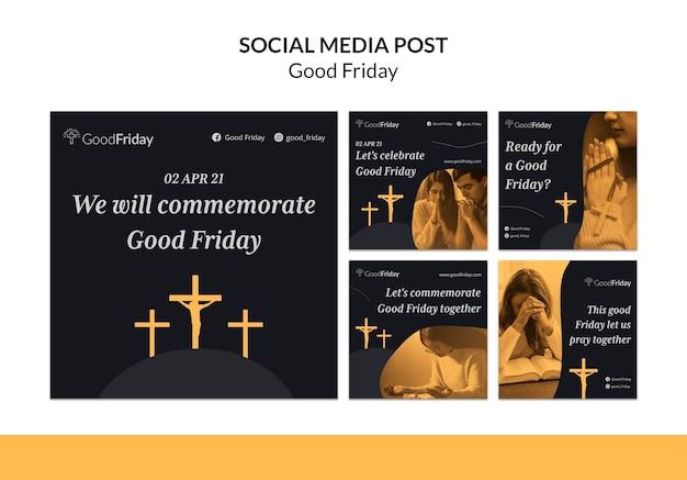 Postagens no instagram de sexta-feira com foto
