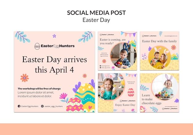 Postagens no instagram do dia da páscoa com foto