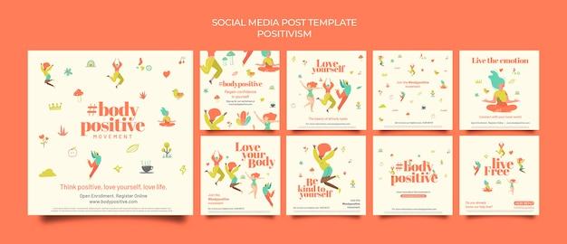 Postagens positivas nas redes sociais