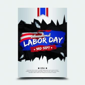 Poster 3º sept internacional do dia do trabalho eua
