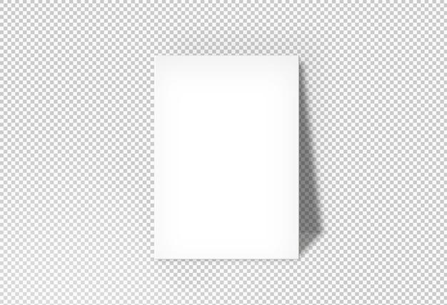 Pôster branco isolado