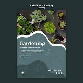 Pôster com jardinagem