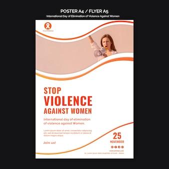 Pôster de conscientização sobre a violência contra as mulheres a4