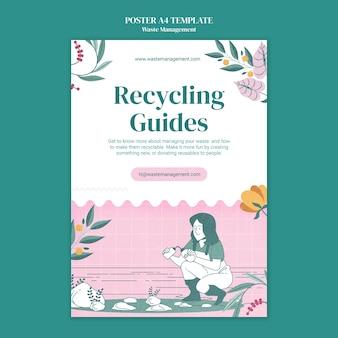 Pôster de gerenciamento de resíduos