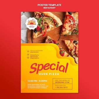 Pôster de pizzaria