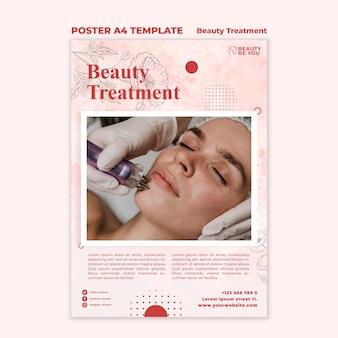 Pôster de tratamento de beleza