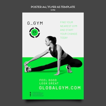 Pôster de treinamento de ginástica