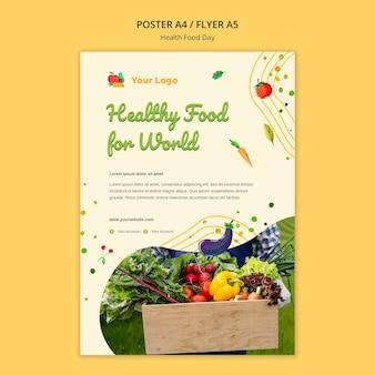 Pôster do dia da comida saudável