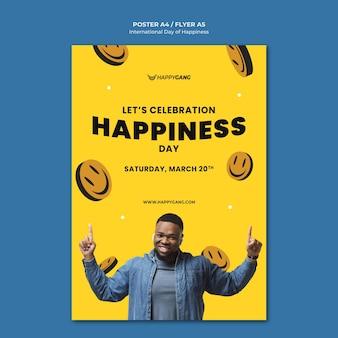 Pôster do dia internacional da felicidade