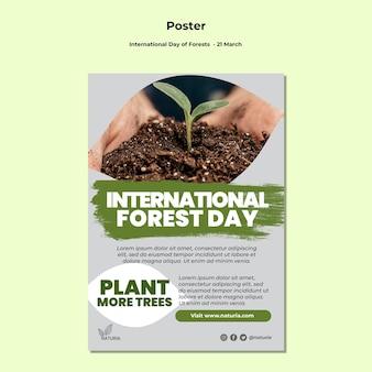 Pôster do dia internacional da floresta