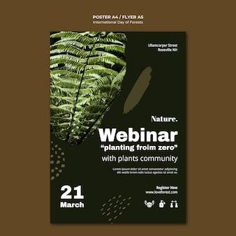 Pôster do dia internacional das florestas