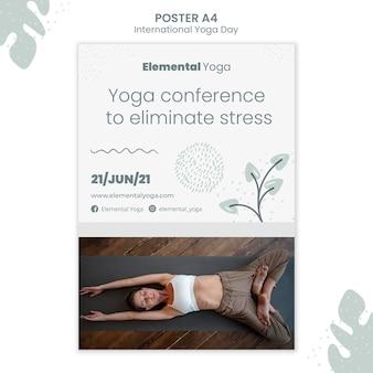 Pôster do dia internacional de ioga