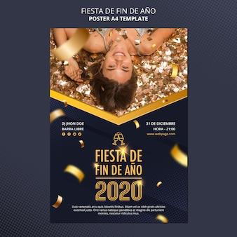 Pôster fiesta de fin de ano 2020