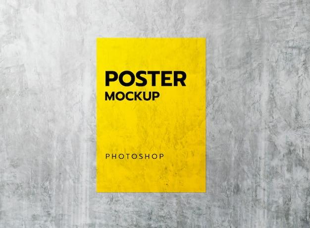 Poster grunge com maquete de concreto