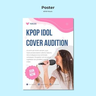 Pôster k-pop com foto