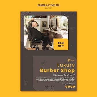Pôster modelo de barbearia