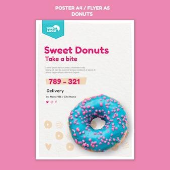 Pôster modelo de loja de donuts