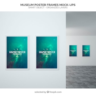 Poster museu quadros mockup