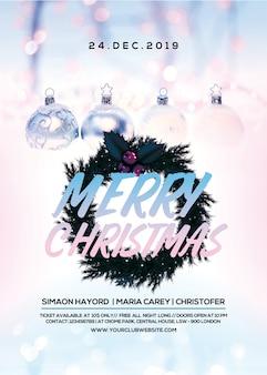 Poster para celebração de natal