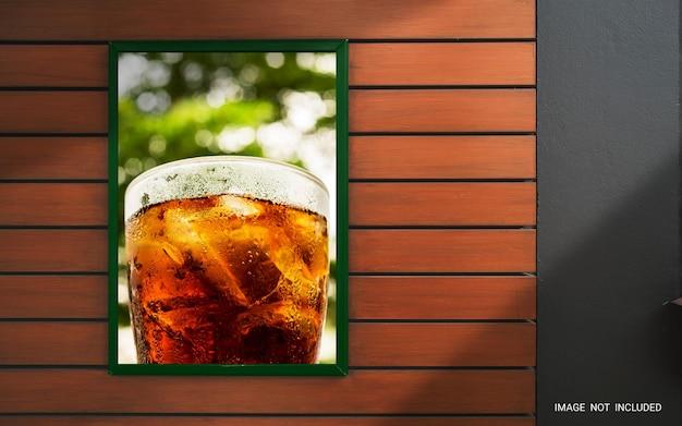 Pôster promocional de maquete exibido em renderização 3d