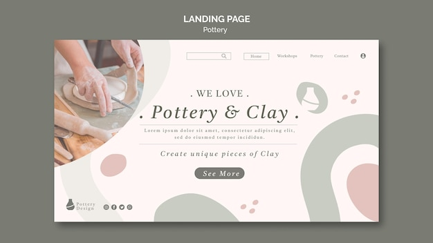 Pottery landing page