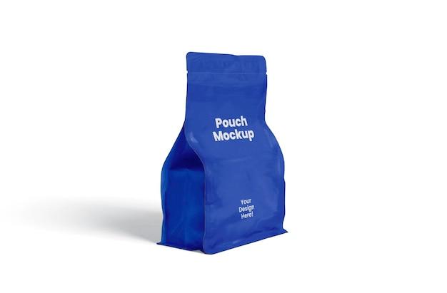 Pouch mockup design in 3d rendering design em 3d rendering