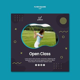 Praticando golfe estilo quadrado de passageiro