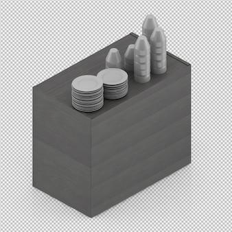 Pratos isolados 3d isolado render