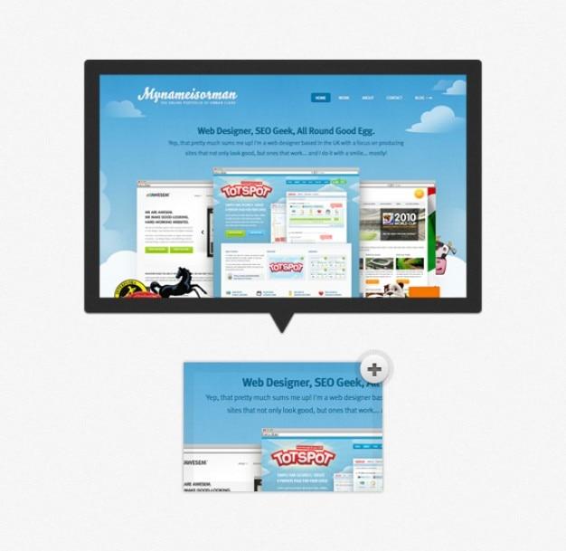 Pré-visualização tooltip simple image (psd)