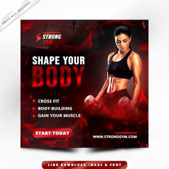 Premium de panfleto de fitness