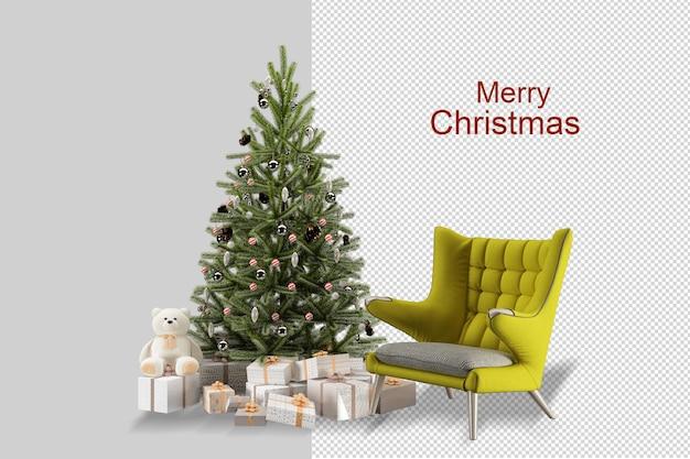 Presente decorando a árvore de natal