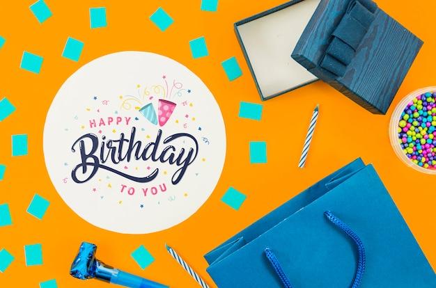 Presentes preparados para festa de aniversário