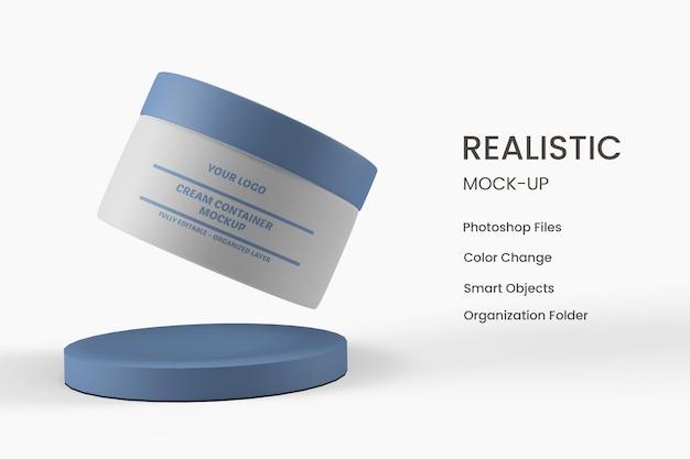 Produto em creme para o cuidado da pele em embalagem elegante. projeto